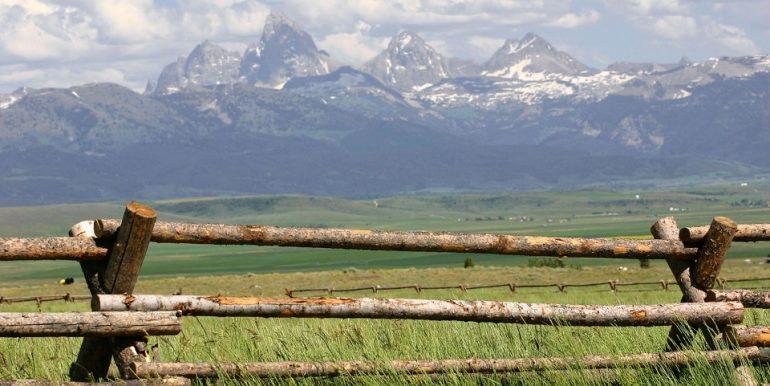 Resized fence and tetons
